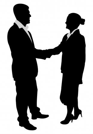 black white business deal